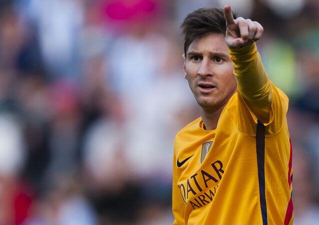 Piłkarz reprezentacji Barcelona Lionel Messi