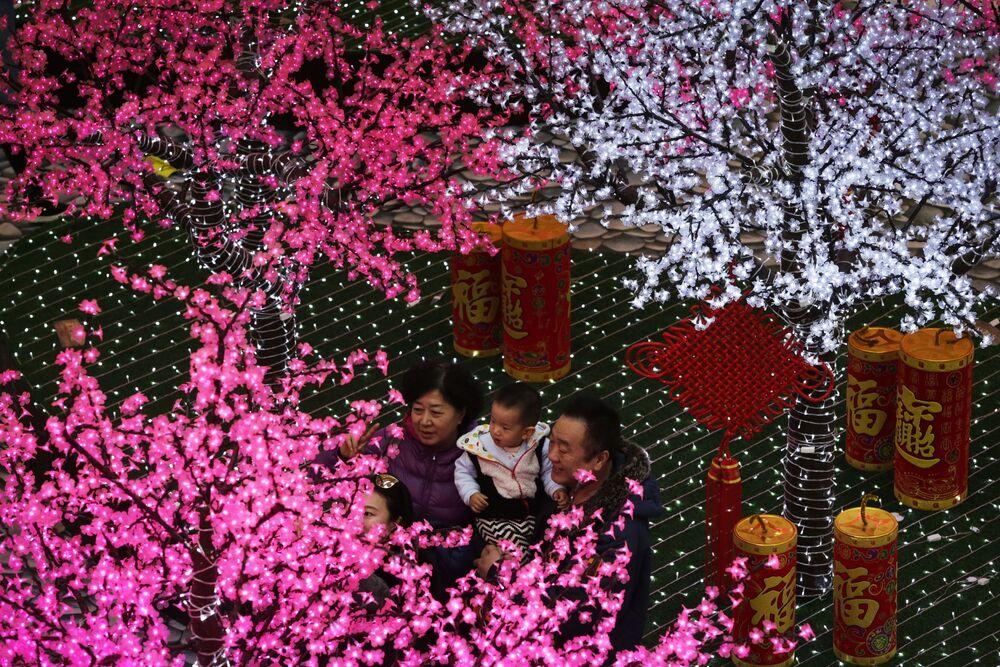 Przygotowanie do chińskiego nowego roku w Pekinie