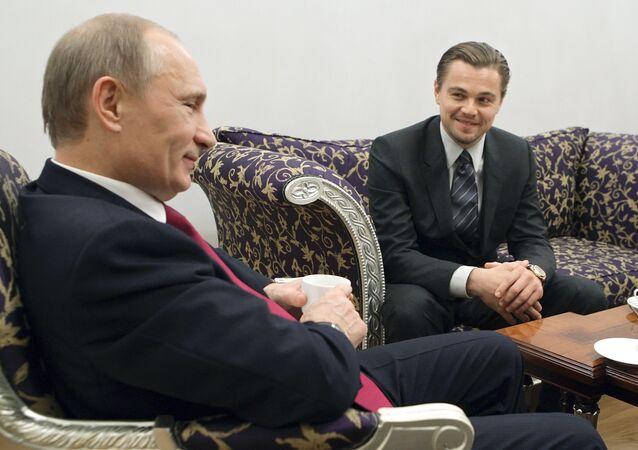 Leonardo di Caprio spotkał się z Władimirem Putinem, 23 listopada 2010, Petersburg