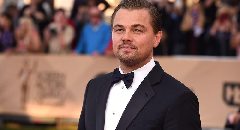 Leonardo DiCaprio na ceremonii wręczenia nagród Screen Actors Guild Awards w Los Angeles