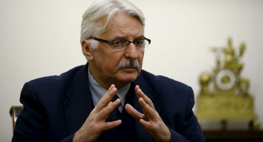 Minister spraw zagranicznych Polski Witold Waszczykowski w Warszawie