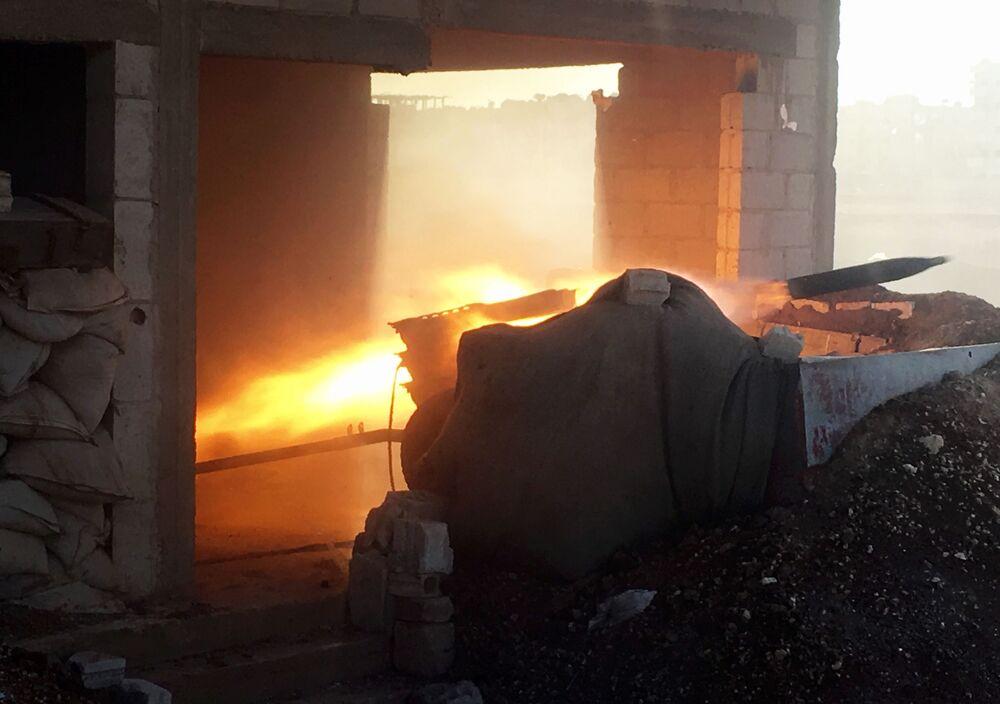 Syryjska armia podczas szturmu miejscowości Osman