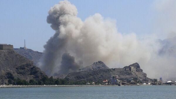 Desant w porcie miasta Aden w Jemenie - Sputnik Polska