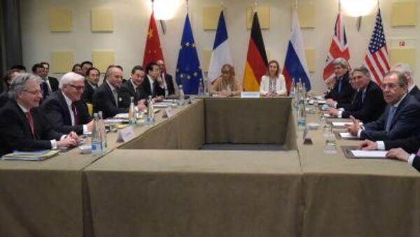 Rozmowy w sprawie irańskiego programu jądrowego w Lozannie - Sputnik Polska