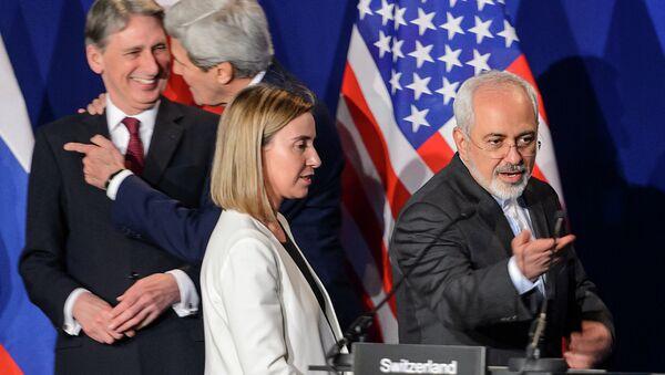 Rozmowy o irańskim programie atomowym w szwajcarskiej Lozannie, kwiecień 2015 - Sputnik Polska