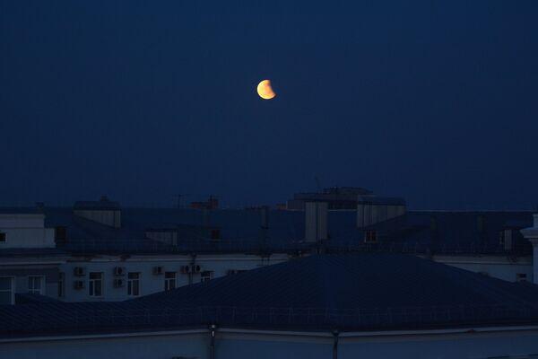 Zaćmienie Księżyca 4 kwietnia 2015, Barnauł, Rosja - Sputnik Polska