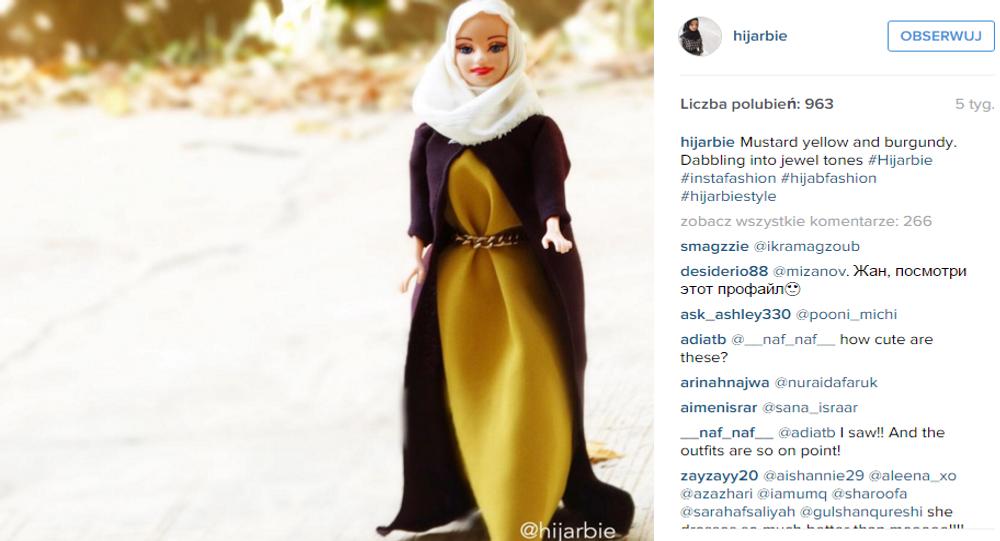 Profil Barbie w hidżabie na Instagramie stał się niesłychanie popularny