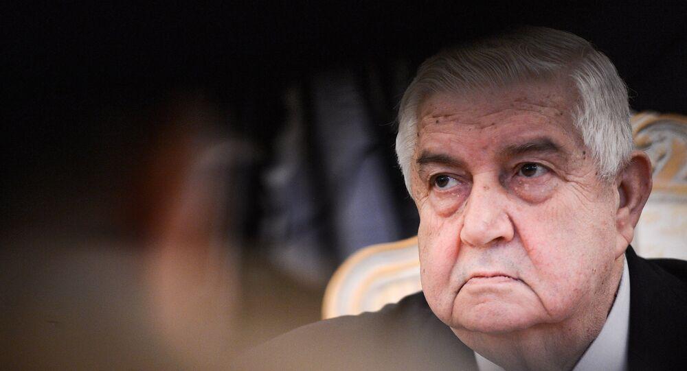 Syryjski minister spraw zagranicznych Walid al-Muallim
