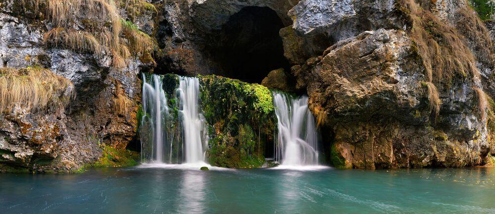 Wodospad Atysz w Baszkortostanie
