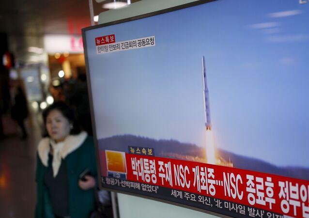 Start północnokoreańskiej rakiety dalekiego zasięgu