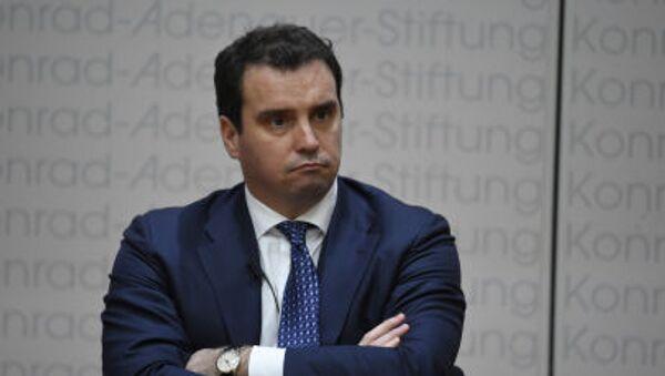 Były minister rozwoju gospodarczego i handlu Ukrainy Aivaras Abromavicius - Sputnik Polska
