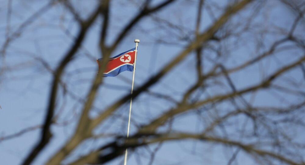 Flaga Korei Północnej