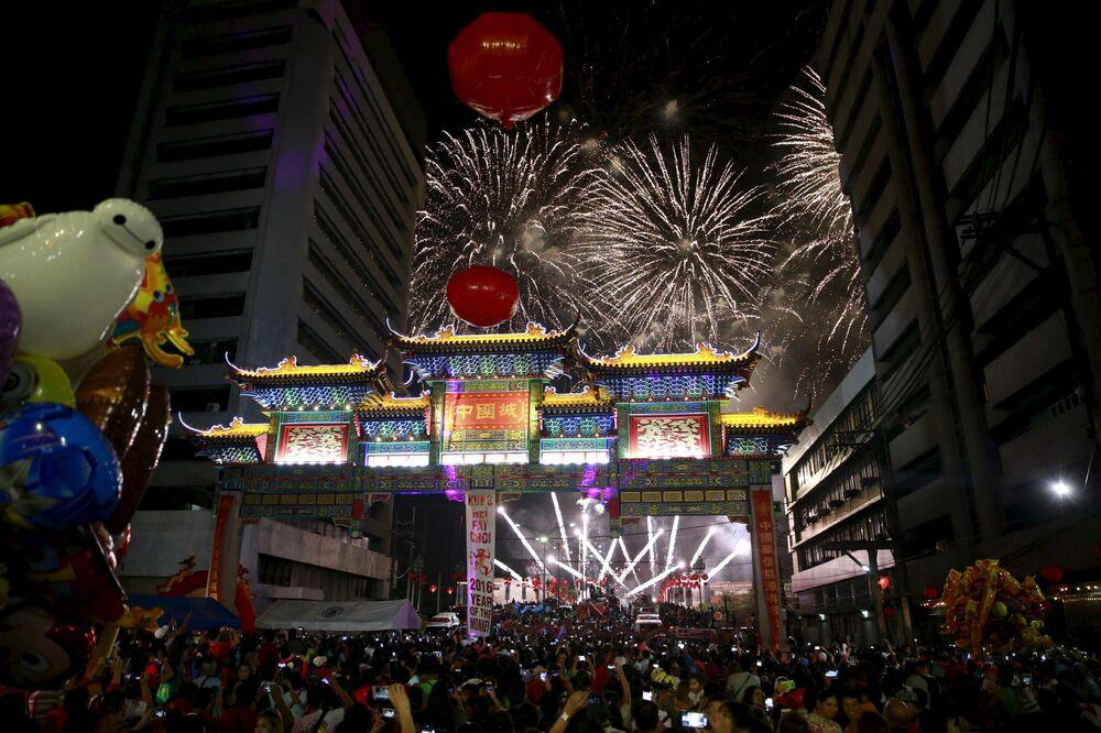 Nowy Rok w Manili, Filipiny