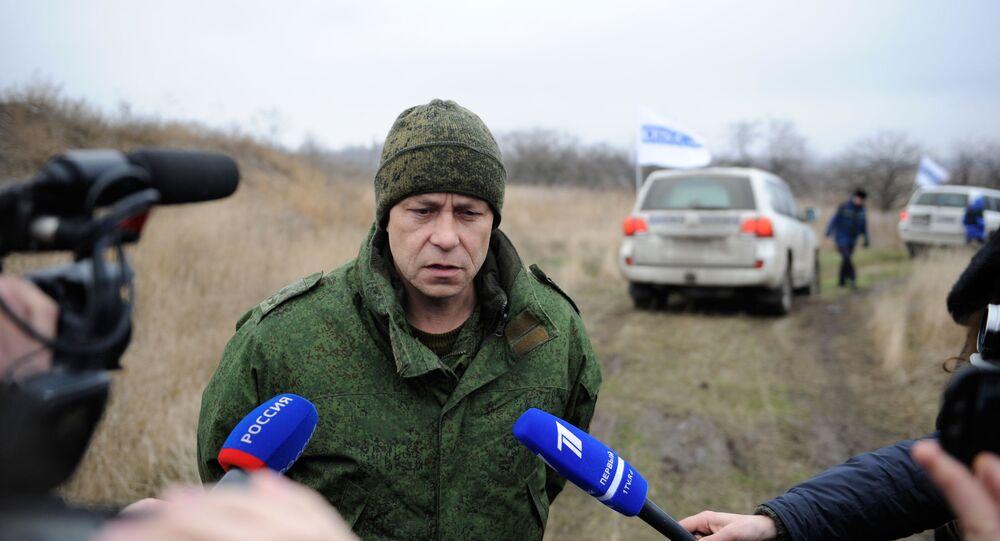 Zastępca dowódcy korpusu Ministerstwa Obrony Donieckiej Republiki Ludowej Eduard Basurin