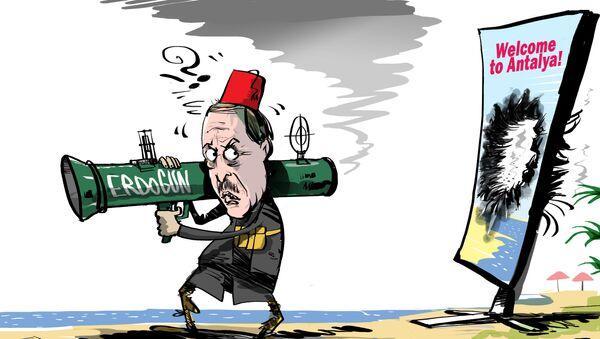 Rosyjscy turysty i Turcja - Sputnik Polska
