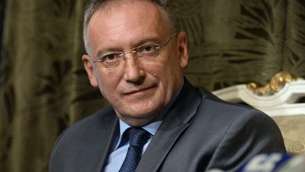 Ambasador Nadzwyczajny Rosji w Syryjskiej Republice Arabskiej Aleksander Kinsczczak w rosyjskiej ambasadzie w Syrii - Sputnik Polska