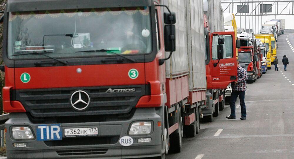 Blokada rosyjskich przewoźników drogowych na Ukrainie
