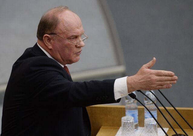 Lider Komunistycznej Partii Federacji Rosyjskiej Giennadij Ziuganow
