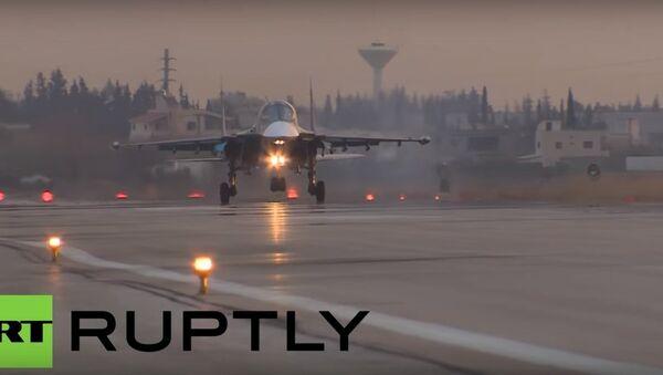 Rosyjskie samoloty Su-24 i Su-34 w Syrii - Sputnik Polska