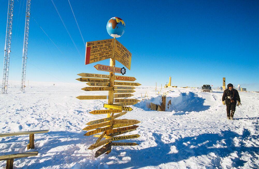 Rosyjska całoroczna stacja polarna Wostok na Antarktydzie