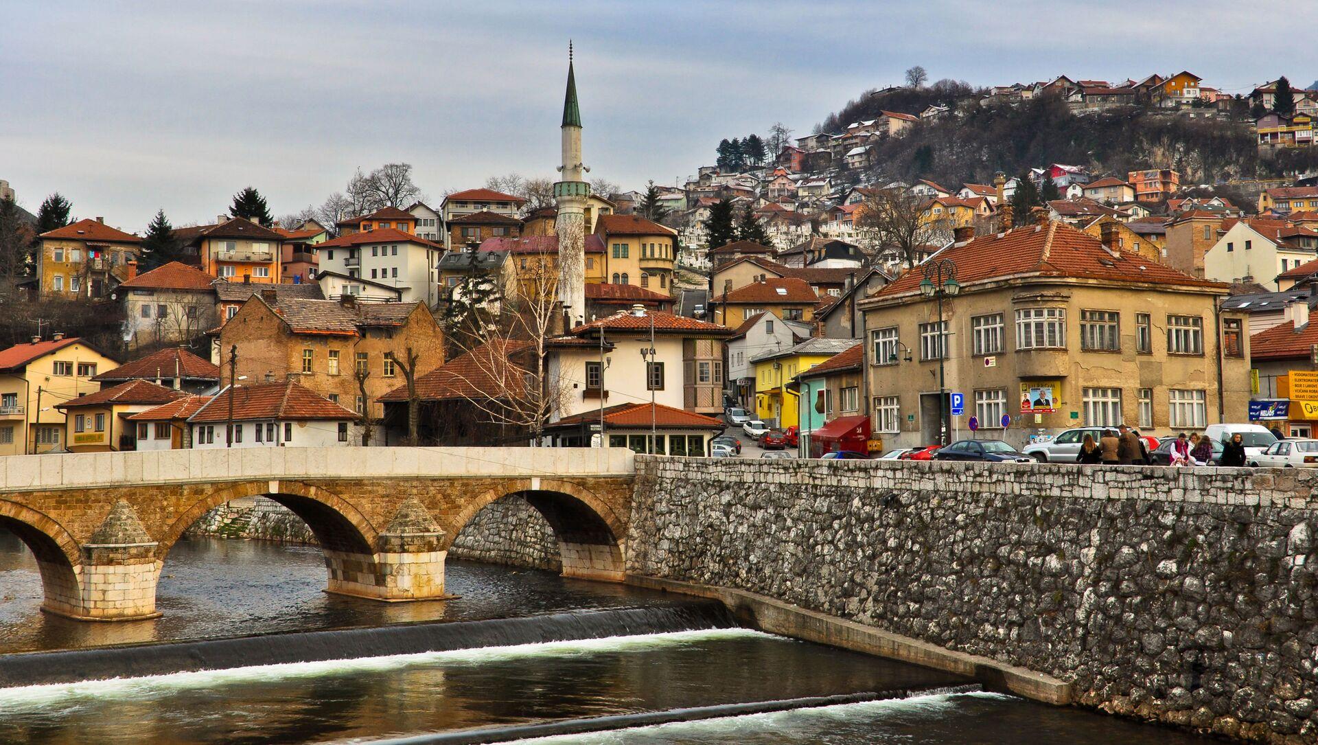 Widok na stare miasto w Sarajewie, Bośnia i Hercegowina - Sputnik Polska, 1920, 17.03.2021