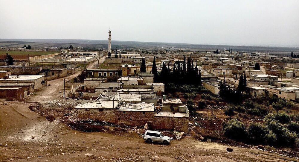 Wyzwolone miasto Nubel na północy prowincji Aleppo w Syrii