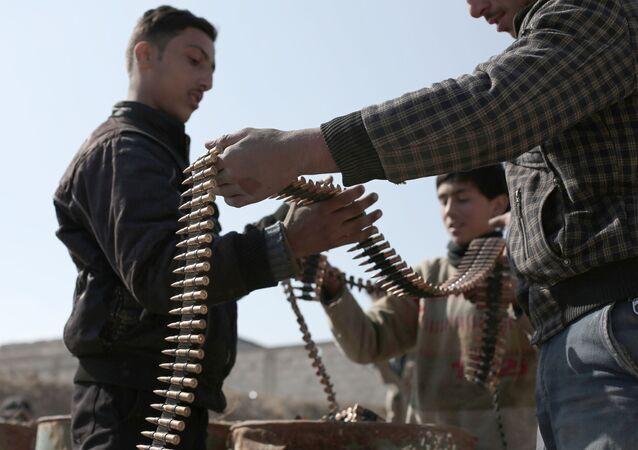Wojskowi z syryjskiej koalicji opozycyjnej Dżaisz al-Islam