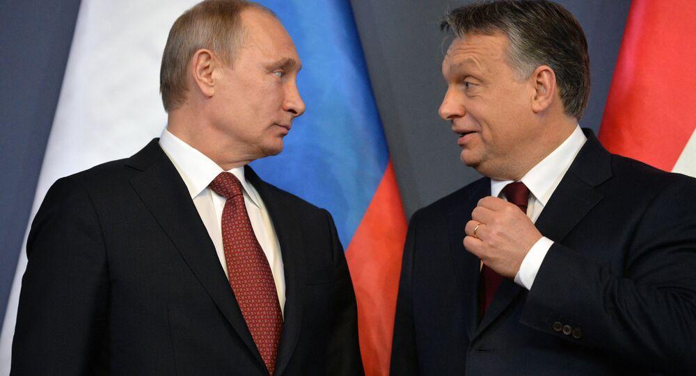 Prezydent Rosji Władimir Putin i premier Węgier Viktor Orban