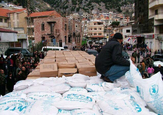Pomoc humanitarna z Rosji w Latakii