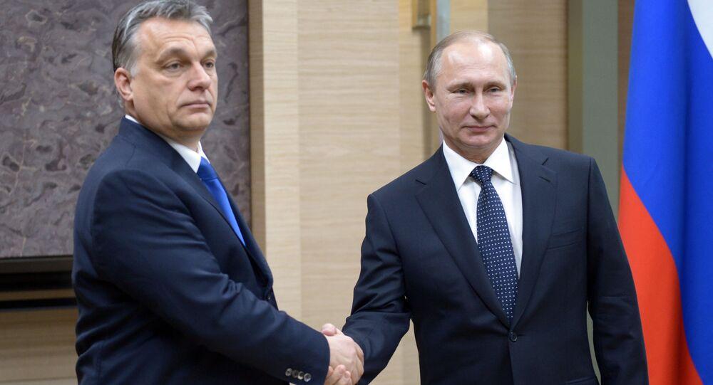 Premier Węgier Viktor Orban i prezydent Rosji Władimir Putin