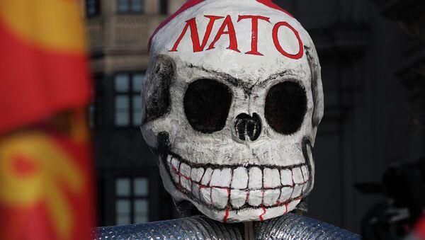 Antynatowska maska z protestów w Monachium - Sputnik Polska