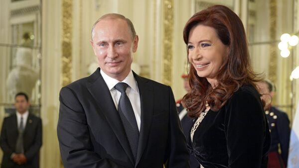 Russian President Vladimir Putin and Argentine President Christina Fernandez de Kirchner - Sputnik Polska