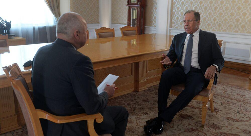 Wywiad ministra spraw zagranicznych Rosji Siergieja Ławrowa dla agencji Rossiya Segodnya