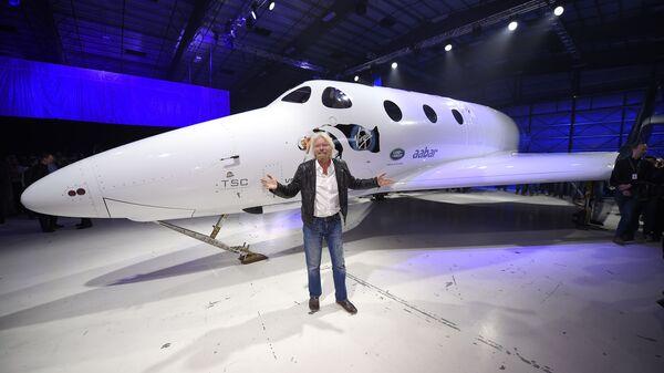 Richard Branson i nowy statek SpaceShipTwo - Sputnik Polska