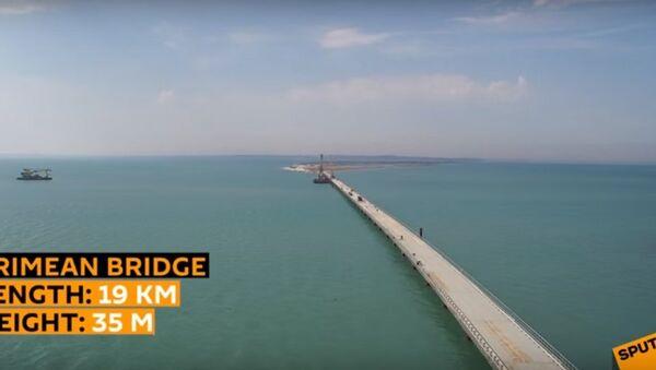 Trwa budowa mostu w Kerczu - Sputnik Polska