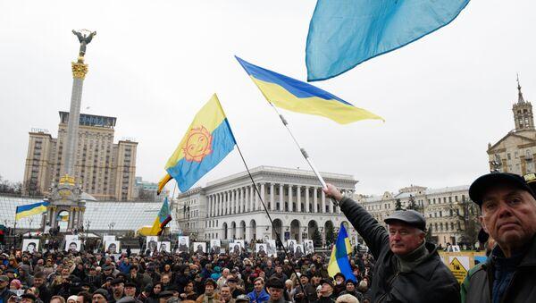 Wiec w rocznicę pomarańczowej rewolucji w Kijowie - Sputnik Polska