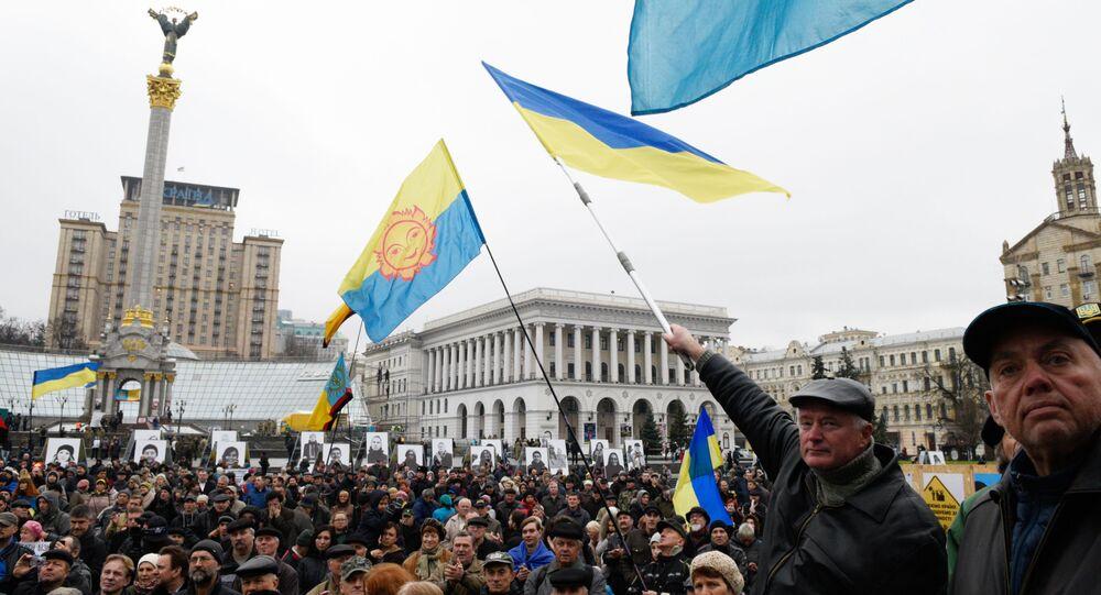 Wiec w rocznicę pomarańczowej rewolucji w Kijowie