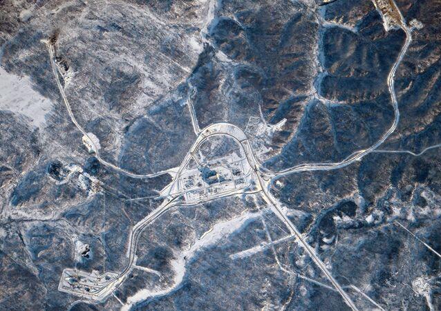Kosmodrom Wostocznyj sfotografowany z MSK
