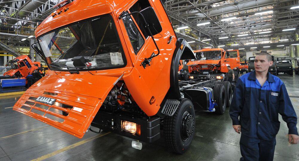 Linia montażu nadwozia i podwozia w fabryce samochodów KAMAZ