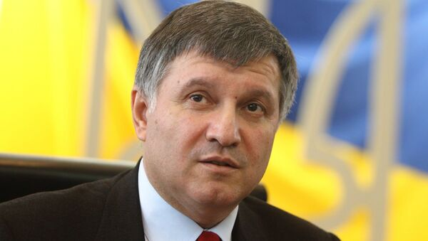 Szef Ministerstwa Spraw Wewnętrznych Ukrainy Arsen Awakow - Sputnik Polska