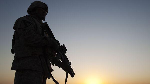 Amerykański żołnierz na bazie w Iraku - Sputnik Polska