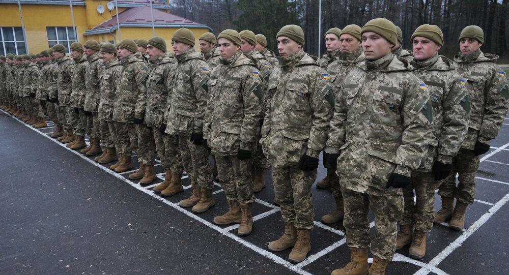 Ukraińscy żołnierze w obwodzie lwowskim