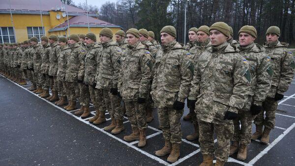 Ukraińscy żołnierze w obwodzie lwowskim - Sputnik Polska