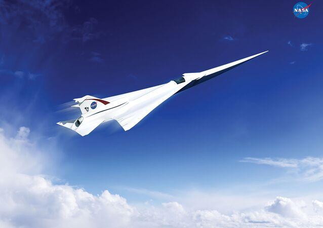 Projekt cichego naddźwiękowego samolotu X-Plane, opracowany przez NASA