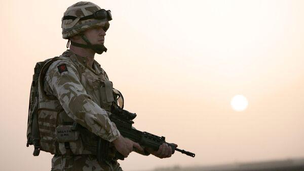 Żołnierz brytyjskiej armii w Kabulu - Sputnik Polska