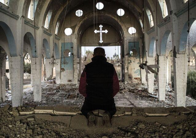 Chrześcijańska świątynia zniszczona przez dżihadystów z PI na północnym wschodzie Syrii