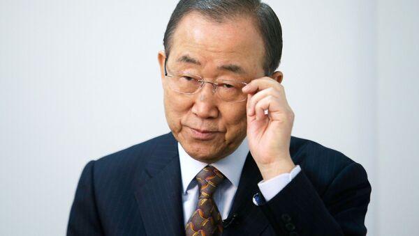 Sekretarz generalny Ban Ki-moon - Sputnik Polska