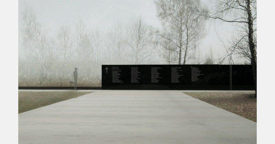 Pomnik w Smoleńsku, projekt Andrzeja Sołygi, Dariusza Śmiechowskiego i Dariusza Komorka, widok z góry