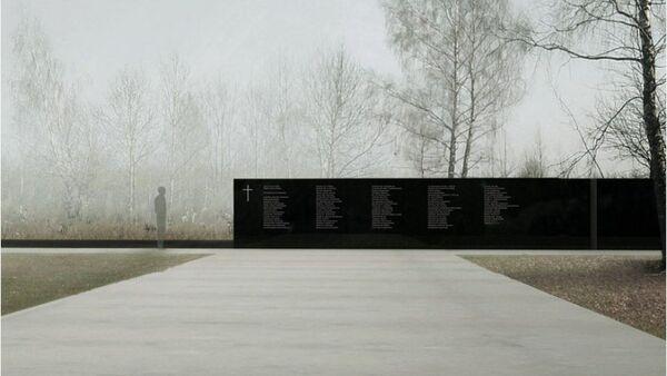 Pomnik w Smoleńsku, projekt Andrzeja Sołygi, Dariusza Śmiechowskiego i Dariusza Komorka, widok z góry - Sputnik Polska