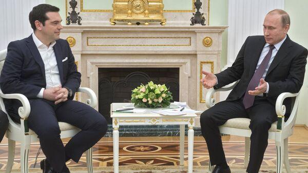 Russian President Vladimir Putin's meeting with Greek Prime Minister Alexis Tsipras - Sputnik Polska